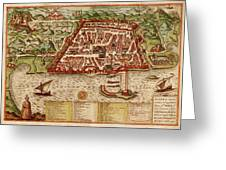 Map Of Algiers 1541 Greeting Card