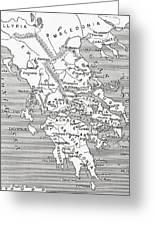 Map Of Ancient Greece Greeting Card