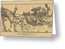 Map Of Arizona 1857 Greeting Card