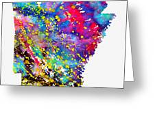 Map Of Arkansas-colorful Greeting Card