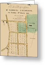 Map Of Auckland 1863b Greeting Card