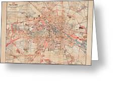 Map Of Berlin 1895 Greeting Card