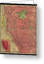 Map Of Buffalo 1896 Greeting Card