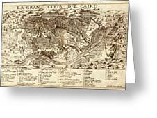 Map Of Cairo 1575 Greeting Card