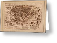 Map Of Cairo 1600 Greeting Card