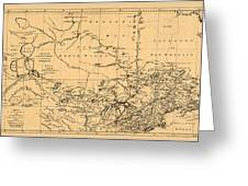 Map Of Canada 1762 Greeting Card