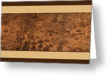 Map Of Cape Breton 1764 Greeting Card