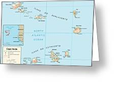 Map Of Cape Verde Greeting Card