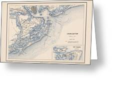 Map Of Charleston Greeting Card