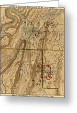 Map Of Chattanooga 1895 Greeting Card
