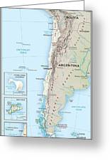 Map Of Chile 2  Greeting Card