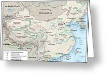 Map Of China 2 Greeting Card