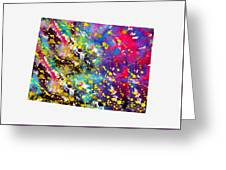 Map Of Colorado-colorful Greeting Card