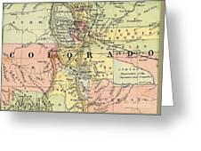 Map Of Colorado Greeting Card