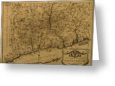 Map Of Connecticut 1797 Greeting Card