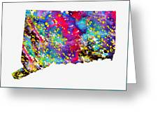 Map Of Connecticut-colorful Greeting Card