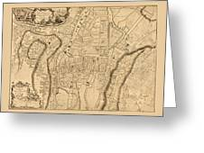Map Of Cork 1771 Greeting Card