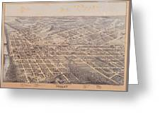 Map Of Dallas 1872 Greeting Card