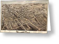 Map Of Danbury 1875 Greeting Card