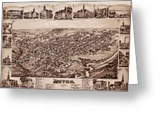 Map Of Dover 1885 Greeting Card