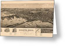Map Of Duluth 1893 Greeting Card