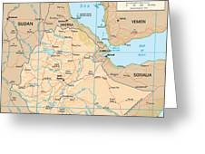 Map Of Ethiopia Greeting Card