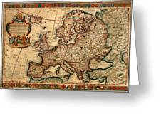 Map Of Europe 1700 Greeting Card