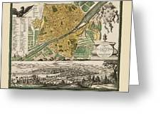 Map Of Florence 1731 Greeting Card
