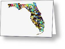 Map Of  Florida-colorful Greeting Card