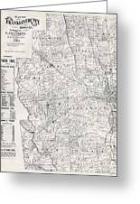 Map Of Franklin County Ohio 1883 Greeting Card