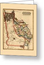 Map Of Georgia 1817 Greeting Card