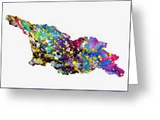 Map Of Georgia-colorful Greeting Card