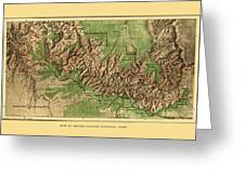Map Of Grand Canyon 1926 Greeting Card