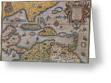 Map Of Gulf Of Mexico And C Greeting Card