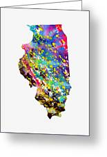 Map Of Illinois-colorful Greeting Card