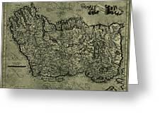 Map Of Ireland 1771 Greeting Card