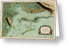 Map Of Jamaica 1756 Greeting Card