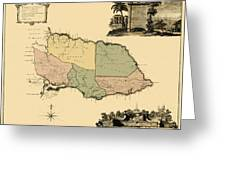Map Of Jamaica 1763 Greeting Card