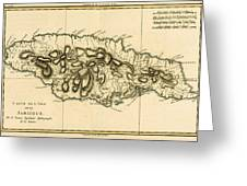 Map Of Jamaica Greeting Card