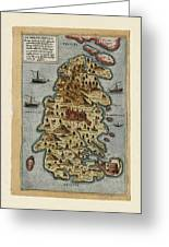 Map Of Malta 1565 Greeting Card