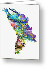 Map Of Moldova-colorful Greeting Card