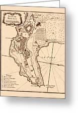Map Of Monaco 1764 Greeting Card