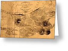 Map Of Nashville 1860 Greeting Card