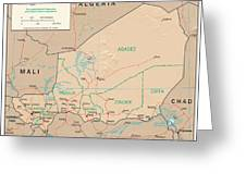Map Of Niger Greeting Card