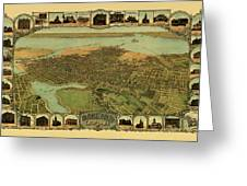Map Of Oakland 1900 Greeting Card