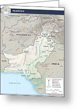 Map Of Pakistan2  Greeting Card