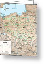Map Of Poland Greeting Card