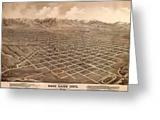 Map Of Salt Lake City 1875 Greeting Card