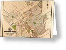 Map Of San Jose 1886 Greeting Card