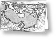 Map Of San Juan, 1766 Greeting Card